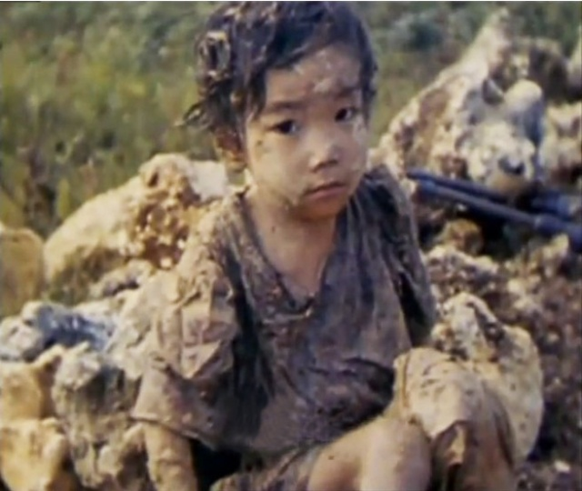 A survivor of the Battle of Okinawa, where nearly half of the estimated 300,000 islanders were killed.