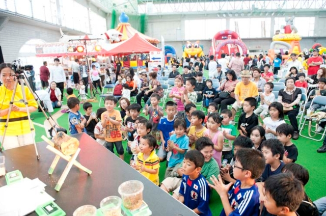 In celebration of Children's Day (May 5), the 11th Kids Festival Adventure World was held at the Chatan Dome in Mihama, Chatan from May 3-6 from 9:00am - 5 pm.