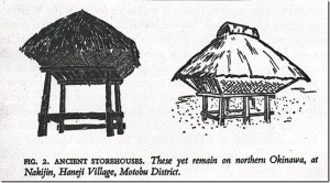 Drawings of elevated storehouses on page 28 of George Kerr's Okinawa – The History of an Island People.