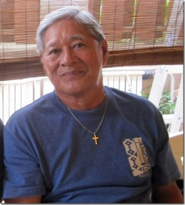 At 81 years - last year 2014, relaxing in Hawaii Kai at his nephew's house.
