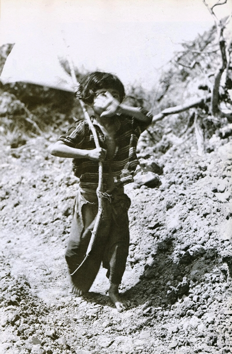 Tomiko Higa holds a white flag on the Okinawan mainland on 25 June 1945. Wikimedia Commons/National Archives and Record.