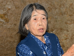 Fumiko Nashiro, photo by Kyodo News. Click image to enlarge.