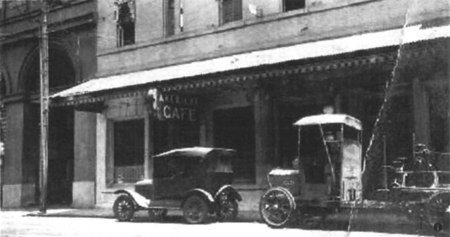 American Cafe founded by Ushi Takara in 1923.