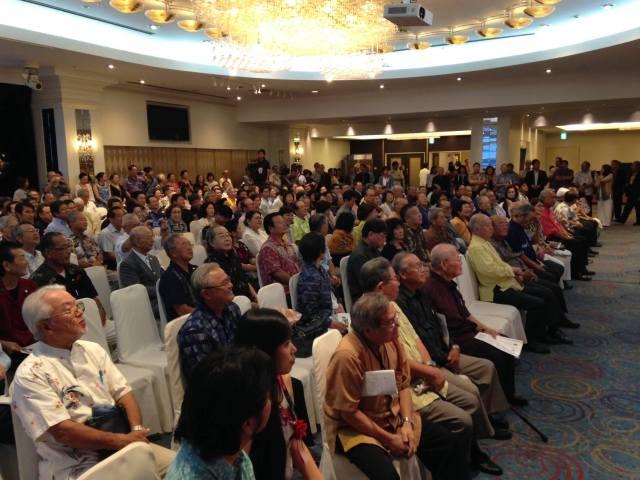 Okinawa-Hawaii Kyokai Reception (10/8/15) — in Naha, Okinawa.