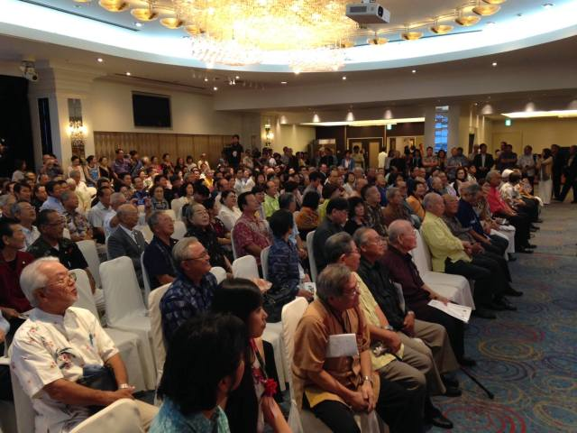 Okinawa-Hawaii Kyokai Reception (10/8/15) — in Naha, Okinawa.