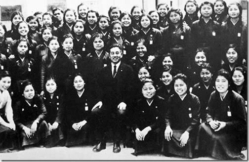 Himeyuri nurses: 222 young girls from the top schools between the ages of 15 and 19 were hastily made into nurses to support the Japanese army in the Battle of Okinawa.